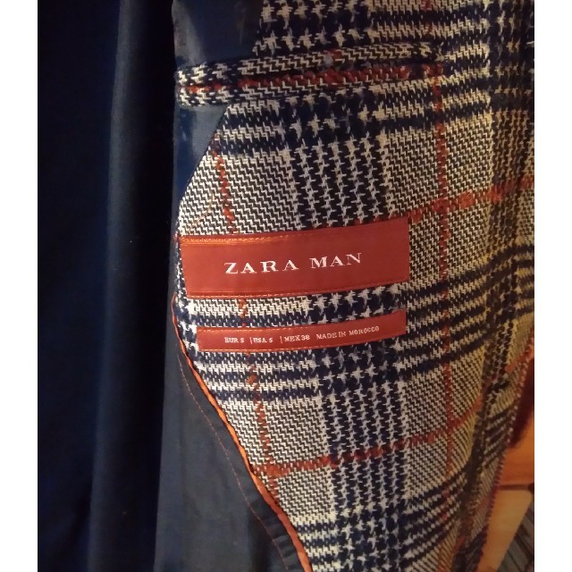 ZARA(ザラ)の★本日限定価格★ZARA  MANチェック柄コート レディースのジャケット/アウター(チェスターコート)の商品写真