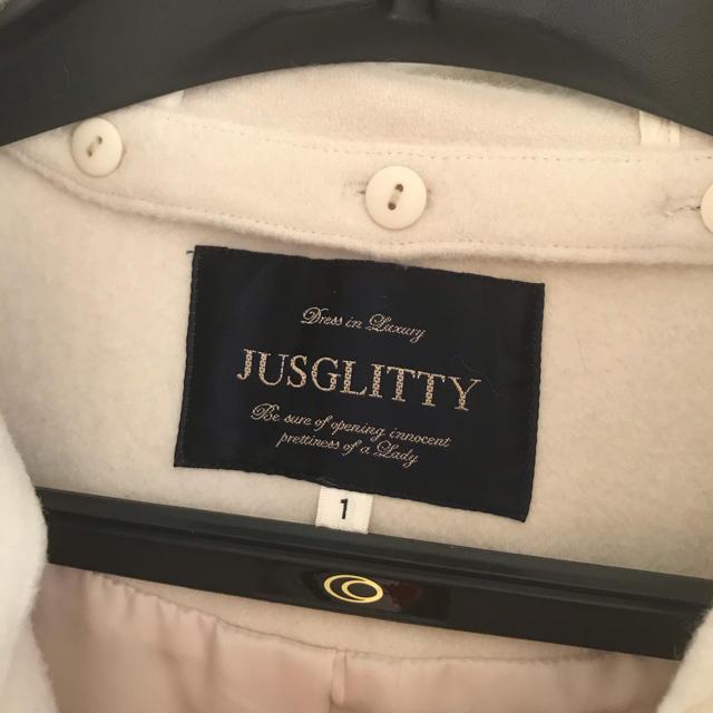 JUSGLITTY(ジャスグリッティー)のJUSGLITTY  フード付きポケットファーコート レディースのジャケット/アウター(ロングコート)の商品写真
