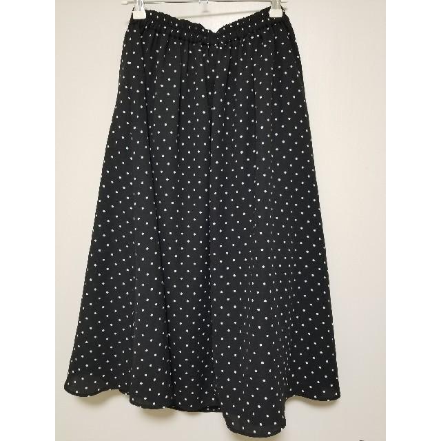 GU ドットスカート Lサイズ レディースのスカート(ひざ丈スカート)の商品写真
