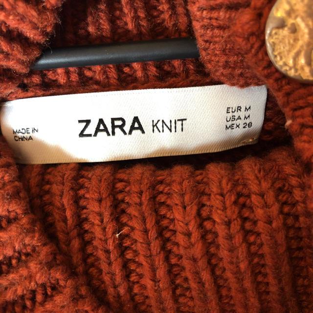 ZARA(ザラ)のZARA ザラ ボタン ハイネックニット レディースのトップス(ニット/セーター)の商品写真