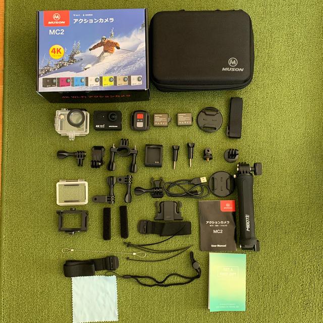MUSON MC2 アクションカメラ スマホ/家電/カメラのカメラ(ビデオカメラ)の商品写真