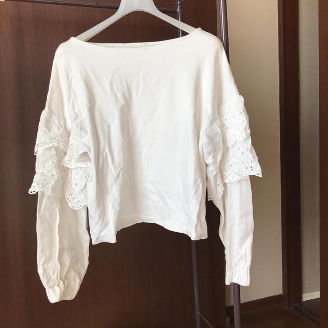 GU(ジーユー)のGU♡ホワイトトップス ♡Mサイズ レディースのトップス(カットソー(長袖/七分))の商品写真