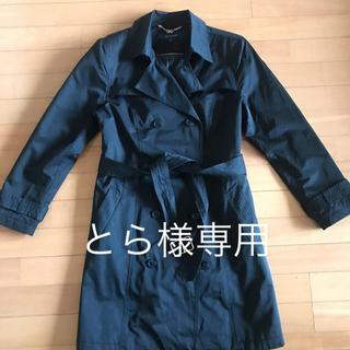 コールハーン(Cole Haan)のコールハーン コート 黒 (取り外しフード付き)(トレンチコート)