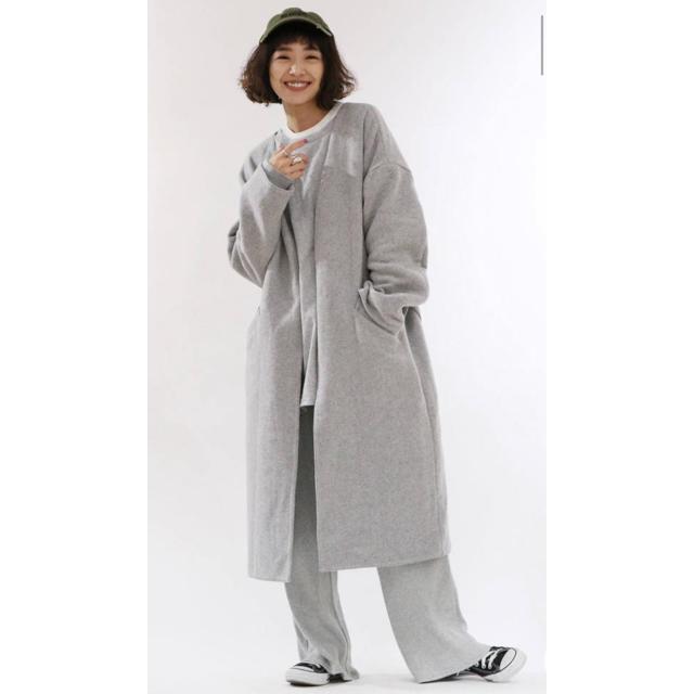 Ungrid(アングリッド)のUngrid  ノーカラーガウンコート レディースのジャケット/アウター(ガウンコート)の商品写真