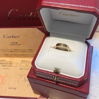 カルティエ(Cartier)のCartier カルティエ  LOVE  1P ダイヤ リング (リング(指輪))