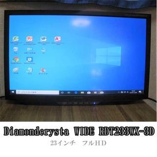 ミツビシ(三菱)の23インチワイドモニタ HDMI2系統(スタンドレス)(ディスプレイ)