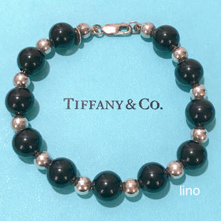Tiffany & Co. - 美品 ティファニー Tiffany ボール ストーン ブレスレット オニキス