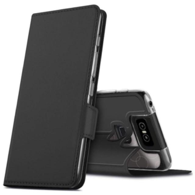 Asus Zenfone 6(ZS630KL) ケースカバー スタンド機能横開き スマホ/家電/カメラのスマホアクセサリー(保護フィルム)の商品写真