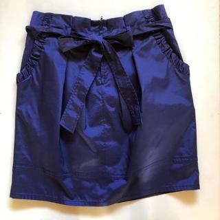 スコットクラブ(SCOT CLUB)の【美品】パープル♡リボン♡ミニ スカート (ミニスカート)
