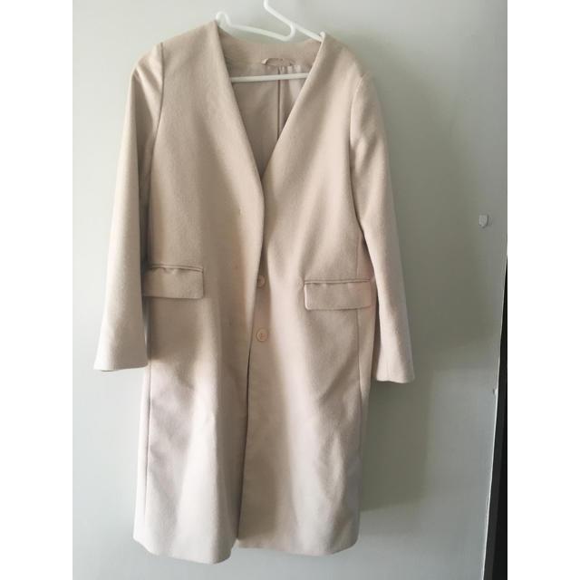GU(ジーユー)のGU ウールブレンドノーカラーコートZ レディースのジャケット/アウター(チェスターコート)の商品写真