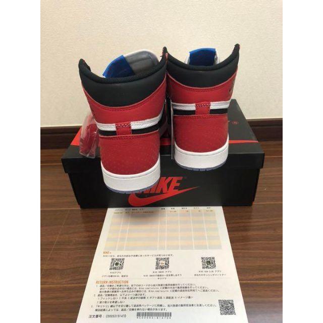 NIKE(ナイキ)のSPIDERMAN NIKE AIR JORDAN 1 ORIGIN STORY メンズの靴/シューズ(スニーカー)の商品写真