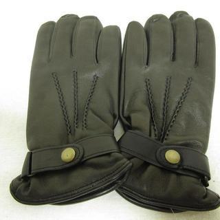 バーニーズニューヨーク(BARNEYS NEW YORK)のバーニーズニューヨーク 高級グレインレザーグローブ イタリア製 S 新品タグ付(手袋)