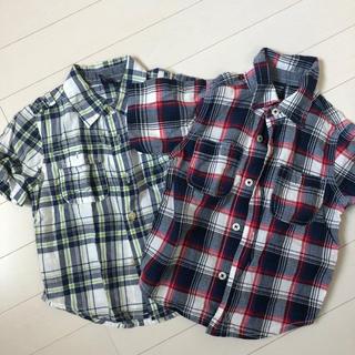 GAP チェックシャツ2枚セット 95