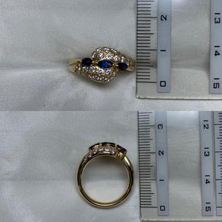 サザンクロス K18 サファイア ダイヤ リング(リング(指輪))