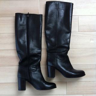 クロエ(Chloe)のVELETTO  ロングブーツ 黒 サイズ35(ブーツ)