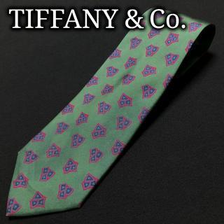 Tiffany & Co. - ティファニー デザインパターン グリーン ネクタイ A101-D14