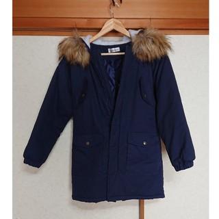 グレイル(GRL)の新品 ネイビー モッズコート 中綿キルティング フード ファー ボアジャケット(モッズコート)
