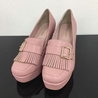 リズリサ(LIZ LISA)のLIZ LISA クラシックベルトローファー ピンク 新品 未使用 送料込み(ローファー/革靴)