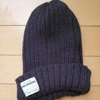 レピピアルマリオ(repipi armario)のレピピ ニット帽 黒(帽子)