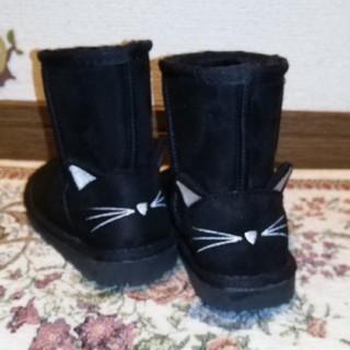 エニィファム(anyFAM)のムートンブーツ 黒 16cm(ブーツ)