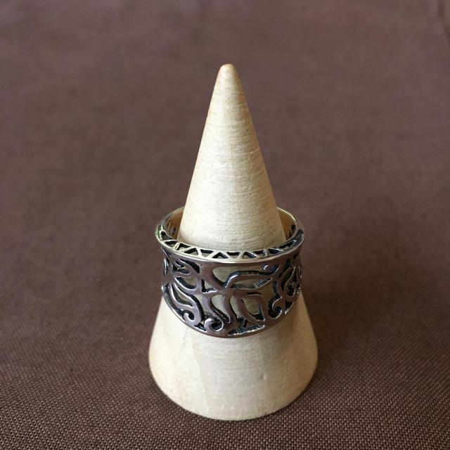 透かし シルバーリング アジアン チェンマイ 銀 レディースのアクセサリー(リング(指輪))の商品写真