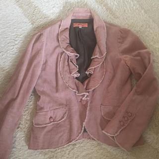 スーナウーナ(SunaUna)のスーナウーナ ジャケット  ピンク レディース 羽織り(テーラードジャケット)