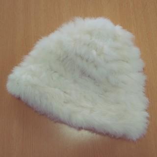 セシルマクビー(CECIL McBEE)のCECIL McBEE ラビットファー ウール混ニット帽 セシルマクビー(ニット帽/ビーニー)