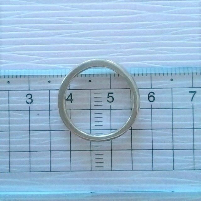 4℃(ヨンドシー)の最終価格♪【4℃】pink silver☆10号☆ウェーブリング☆D?☆箱有 レディースのアクセサリー(リング(指輪))の商品写真