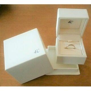 ヨンドシー(4℃)の最終価格♪【4℃】pink silver☆10号☆ウェーブリング☆D?☆箱有(リング(指輪))