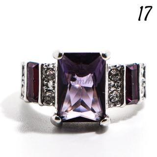 Y2 リング 17号 人工石 アメジスト シルバー バケット(リング(指輪))