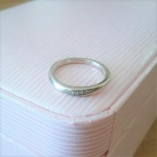 ヨンドシー(4℃)の最終価格♪【4℃】pink silver☆8号☆ウェーブリング☆D?CZ?(リング(指輪))