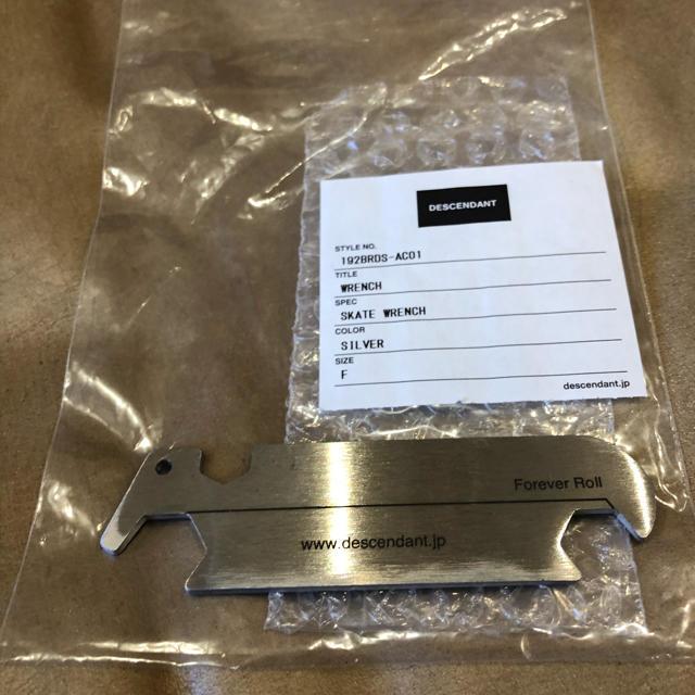 W)taps(ダブルタップス)のDESCENDANT 19aw スケートレンチ 新品未使用 メンズのファッション小物(キーホルダー)の商品写真