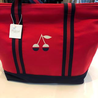 ボンポワン(Bonpoint)のボンポワン 赤バッグ 新品未使用 (トートバッグ)