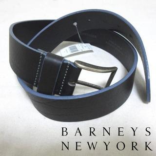 バーニーズニューヨーク(BARNEYS NEW YORK)の新品タグ付 バーニーズニューヨーク 34インチ レザーベルト 伊製(ベルト)