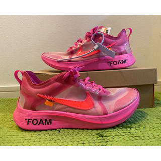 ナイキ(NIKE)のnike off white the10 zoomfly pink 27.5cm(スニーカー)
