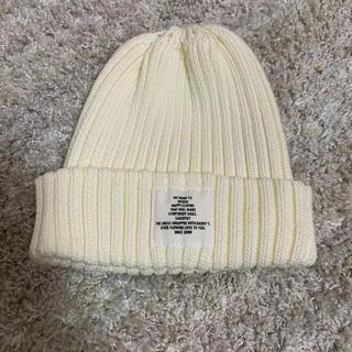 ビームス(BEAMS)のSMOOTHY子供ニット帽 ホワイト(ニット帽/ビーニー)