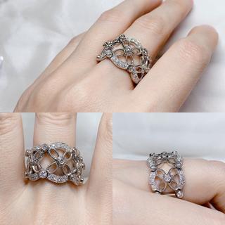 ジュエルスタジオ pt900 ダイヤモンド リング(リング(指輪))