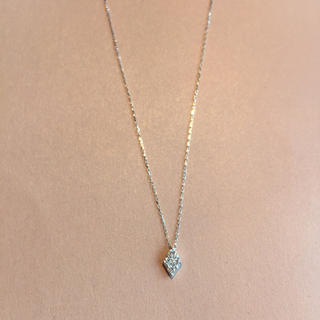 canal4℃ - 新品❤️18金ホワイト ダイヤモンド ダイヤ型 ネックレス