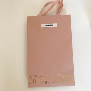 ミュウミュウ(miumiu)のmiumiuショッパー(ショップ袋)
