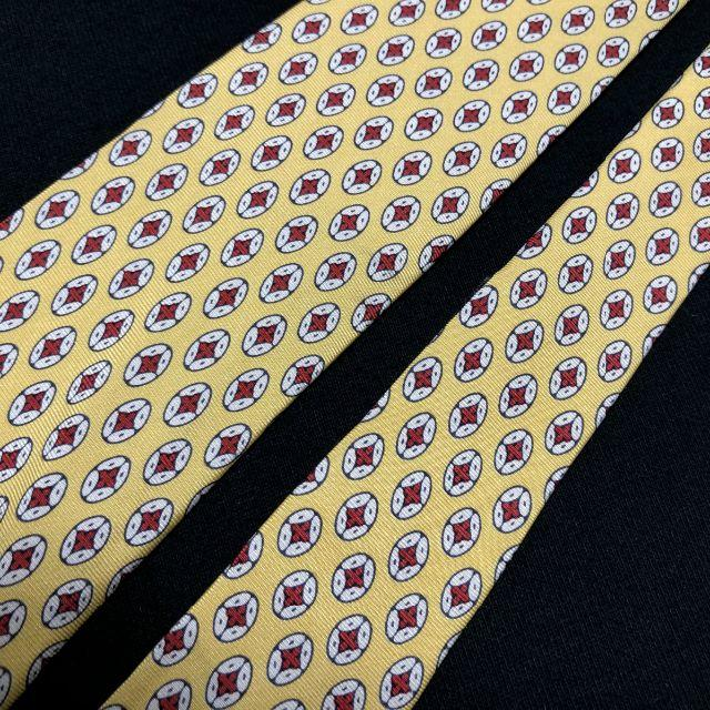 POLO RALPH LAUREN(ポロラルフローレン)のポロラルフローレン ドット イエロー ネクタイ ナロータイ A101-G17 メンズのファッション小物(ネクタイ)の商品写真