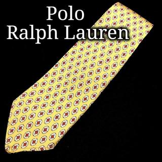 POLO RALPH LAUREN - ポロラルフローレン ドット イエロー ネクタイ ナロータイ A101-G17