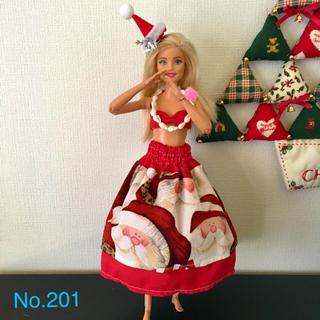 バービー(Barbie)のバービー  フラダンス衣装 X'mas【No.201】(人形)