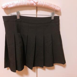 テニススカート プリーツスカート 黒(ミニスカート)