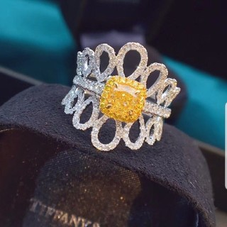 GIA♡3 ウェイFancy Light Yellowダイヤモンドリング(リング(指輪))