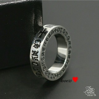 送料無料 16号 シルバーステンレスファックユークロス十字架スペーサーリング指輪(リング(指輪))