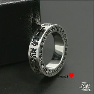 送料無料 21号 シルバーステンレスファックユークロス十字架スペーサーリング指輪(リング(指輪))