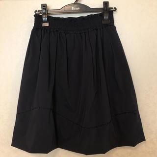 トゥービーシック(TO BE CHIC)のTOBECHIC 紺スカート 40(ひざ丈スカート)