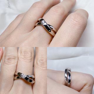 ヨンドシー(4℃)の4℃ ヨンドシー ダイヤモンド 重ね付け クロス リング(リング(指輪))