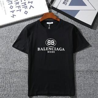 Balenciaga - Balenciaga 夏服 男女兼用Tシャツ 半袖 カジュアル