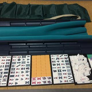 麻雀セット 牌 マット 点棒 専用バッグで持ち運び可能(麻雀)
